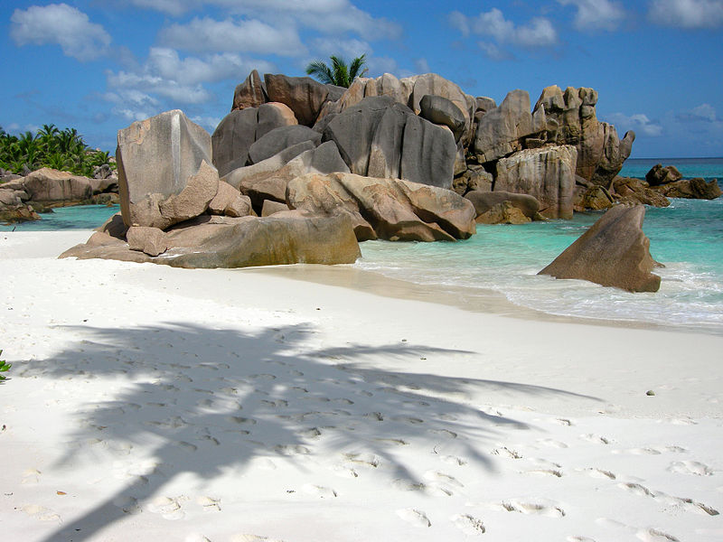 rock formation in anse cocos la diigue seychelles