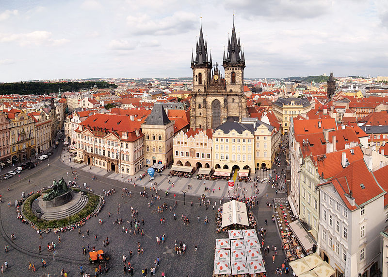 romantic old town of prague